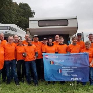 Noord-Brabantse snelwandelaars van Parijs naar Tilburg hielden halt in Kokejane (B)