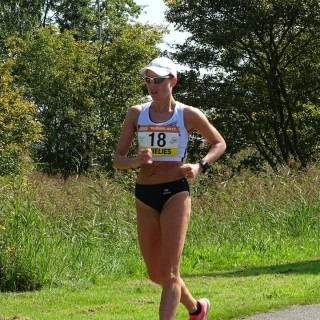 Annelies Sarrazin hernieuwt titel op de 20 km snelwandelen