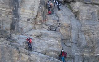 Ascension of the Matterhorn: start of the Hörnli ridge