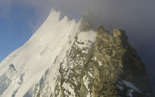 Ascension Weisshorn (4.505 m) via the nord ridge