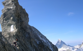 Ascension of the Grand Gendarme on the north ridge of the Weisshorn (4.505 m)