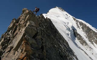 Ascension of the Weisshorn (4.505 m) via the nord ridge