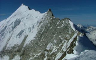 The north ridge of the Weisshorn (4.505 m)