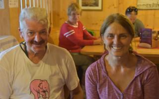 Lienz Dolomites ~ Theo Bické & Edith Tembler, cabin exploiter of the Karlsbader Hut